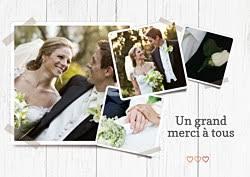 mille merci mariage modèles de carte remerciement