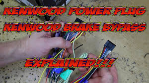 kenwood excelon u0027s wire harness colors and brake bypass explained