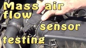 nissan sentra mass air flow sensor mass air flow sensor maf testing without dismantling youtube