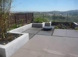 Contemporary Backyard Landscaping Ideas by Modern Concrete Charcoal Tan Fountain Backyard Landscaping