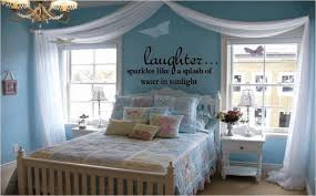 vinyl wall quotes for bedroom white quilt and long headboard