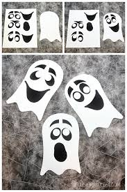 Crafts For Kids For Halloween - ghost craft for kids easy halloween craft with printable pdf