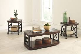 Ashley End Tables And Coffee Table Vinasville Table Set Of 3 Ashley Furniture Homestore