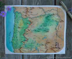 Lakeview Oregon Map by I Painted A Fantasy Style Map Of Oregon Any Suggestions On Other