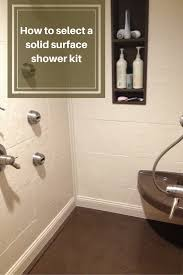 Corian Shower Shelf How To Select A Stone Solid Surface Shower Kit