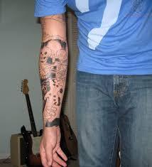 skeleton tattoos on arm