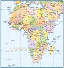 Africa Map Rivers Digital Vector Africa Map Basic Political Style In Illustrator And
