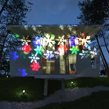 Outdoor Laser Projector Christmas Lights by Waterproof Snowflake Rotating Spotlight 10pcs Pattern Lens For