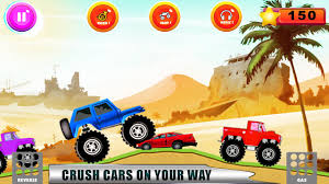 videos of monster trucks crushing cars monster truck racers offroad driver android apps on google play