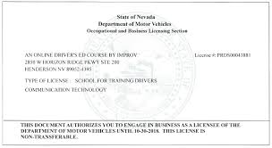 nevada drivers ed nevada driver u0027s license course by improv