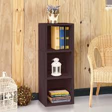 3 shelf narrow bookcase wynwood eco 3 shelf narrow bookcase espresso lifetime guarantee