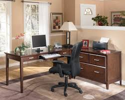angelic design ideas using rectangular brown wooden desks in