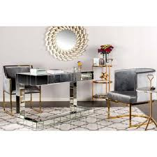 Gold Dining Chairs Circular Gray Velvet Gold Dining Chairs Set Of 6 Chairish