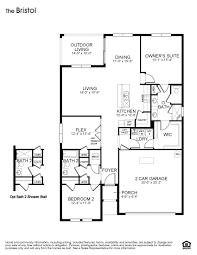 As Built Floor Plans Bristol Jb Ranch Ocala Florida D R Horton