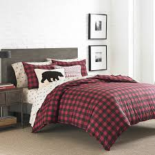 amazon com eddie bauer 210707 mountain plaid duvet cover set