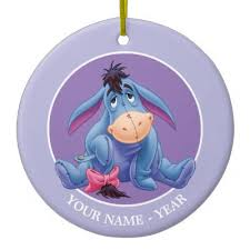winnie the pooh eeyore smile bag tag zazzle