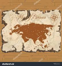Map Of Eurasia Vector Old Parchament Map Eurasia Stock Vector 488208007