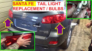 2006 hyundai sonata 3rd brake light replacement hyundai santa fe tail light brake light turn signal bulb replacement