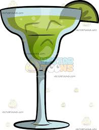 cartoon martini a lime margarita cocktail cartoon clipart vector toons