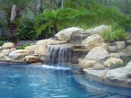 rock waterfalls for pools pool waterfall and rock garden in south florida traditional