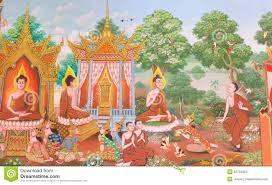 mural mythology buddhist religion on wall in wat neram stock photo art buddhist dansai loei mural religion thai thailand wall
