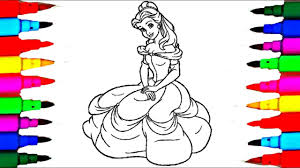 disney princess belle beauty beast coloring pages disney