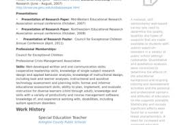 Special Education Teacher Resume Sample by Education Resume Sample Reentrycorps