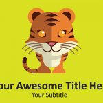 tiger powerpoint template tiger snarl animals powerpoint templates