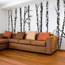 silver birch trees vinyl wall sticker by oakdene designs silver birch trees vinyl wall sticker