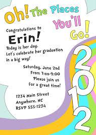 preschool graduation invitations meghily s oh the places you ll go graduation invite