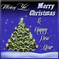 wishing you merry happy new year glitter