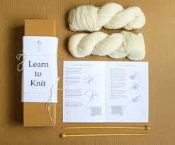 black cat starter knitting kit by the knit kit company