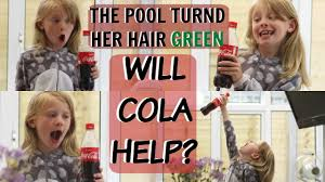 rinses hair with coke how to remove green from hair chlorine turned hair green coca