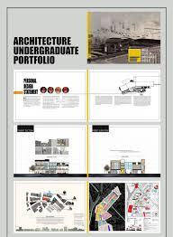 architecture portfolio layouts behance undergraduate on graphic