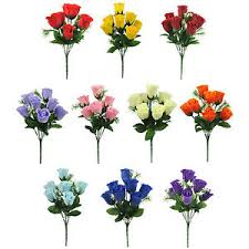 silk flowers artificial silk flowers bud bunch 10 colours wedding home
