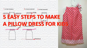 how to make pattern and sew a simple pillowcase dress for little