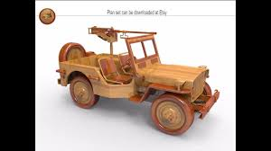 willys jeep wood plan set youtube