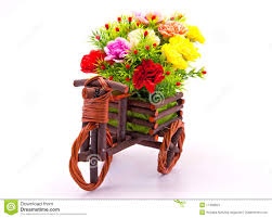 flower bouquet pictures flower bouquet in car wooden basket stock photo image of garden