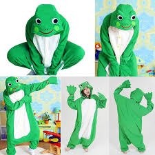 Halloween Onesie Costumes Frog Costume Jumpsuit Cosplay Pyjamas Pajamas Costume Onesie