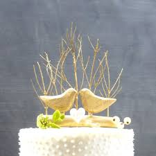 wedding gift gold gold wedding cake topper with birds gold cake topper rustic