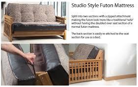 oak futon sofa bed cavendish 2 seater oak futon sofa bed
