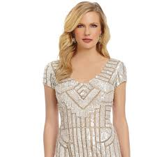 embellished dress papell dresses skirts geometric sequin embellished
