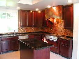 kitchen copper backsplash copper backsplash with white cabinets simple amazing kitchen