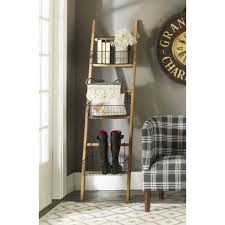 Bookcase With Baskets Rustic Ladder With Wire Baskets Shades Of Light