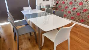 Extending White And Grey Gloss Dining Table Uk - Extendable kitchen tables