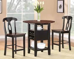 Dining Room Table With Wine Rack Counter Dining Set For 2