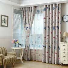 Fish Curtains Beige Fish Print Polyester Curtains On Sale