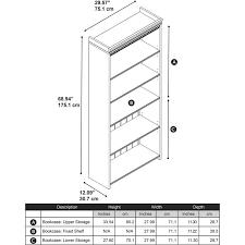 bush fairview 5 shelf bookcase in antique white wc53265 03