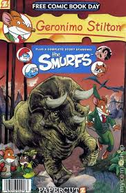 geronimo stilton smurfs 2011 fcbd comic books