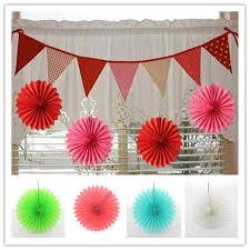 paper fan decorations retail sale 60 pcs 10 inch diy paper fan for garden decoration on